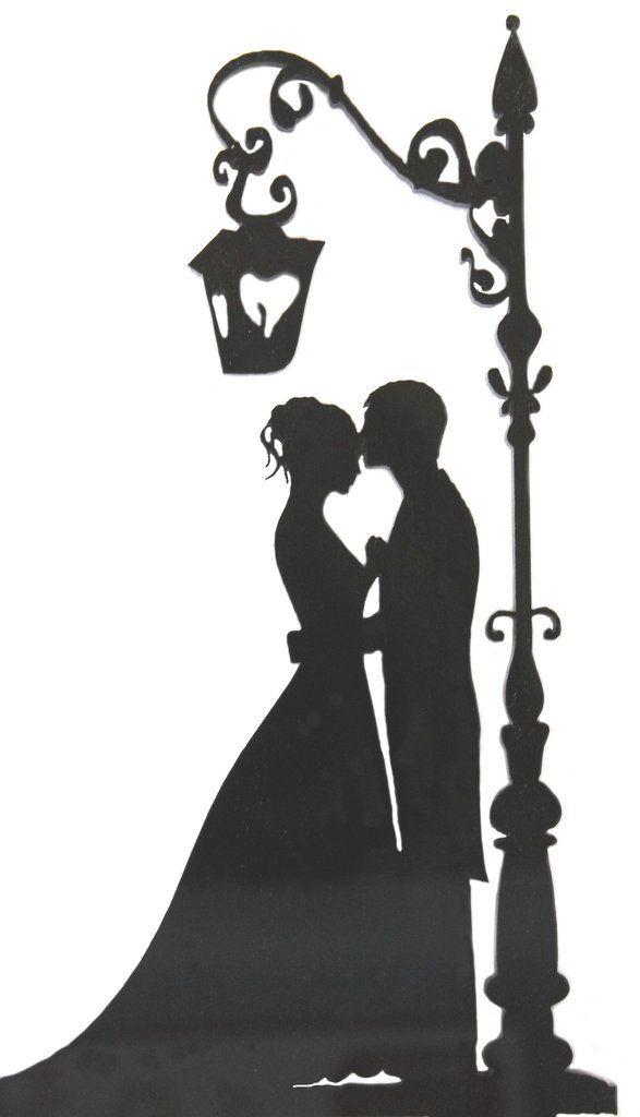 Romantic Goth Wedding Cake Topper
