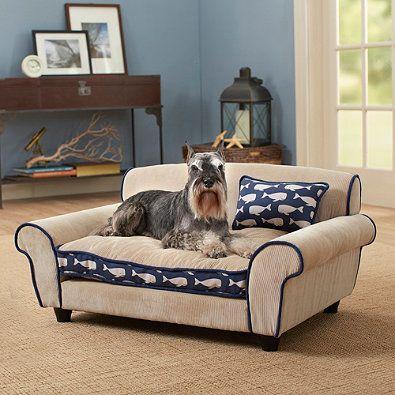 Enchanted Home Pet Ultra Plush Mattituck Sofa Bed in Beige/Blue - BedBathandBeyond.com $229.99