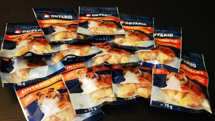 Pamlsky pro psy Ontario - Ananas se sušeným masem.
