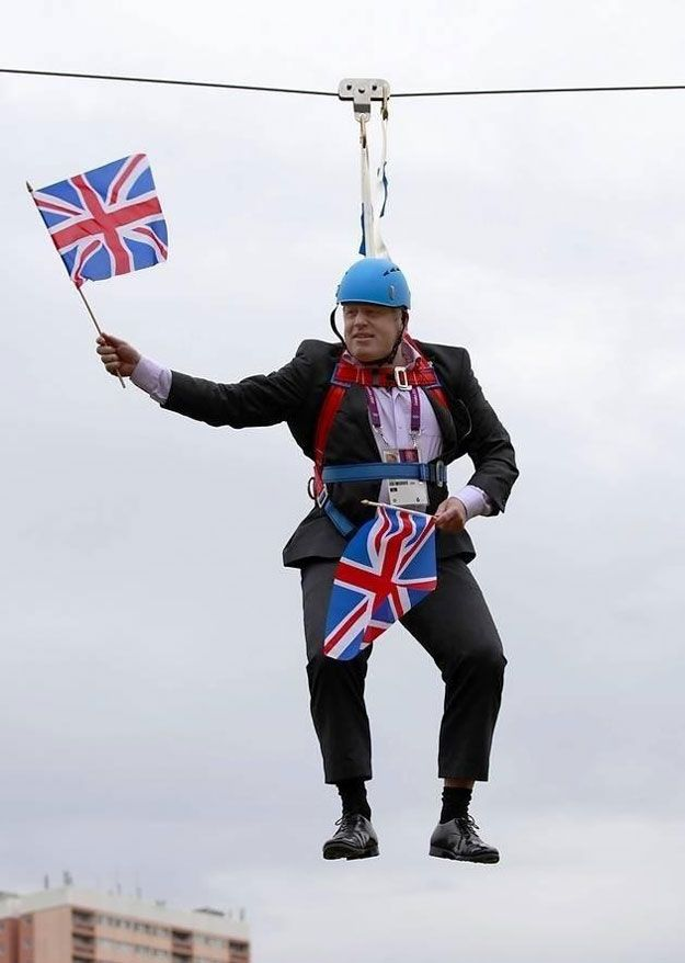 We're realistic about our place in the world. You have to be, when THIS guy is Mayor of your capital city   48 Reasons It's Great To Be British (Yes, Really)