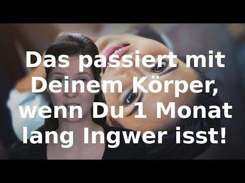 Das passiert mit Deinem Körper, wenn Du 1 Monat lang Ingwer isst! - YouTube