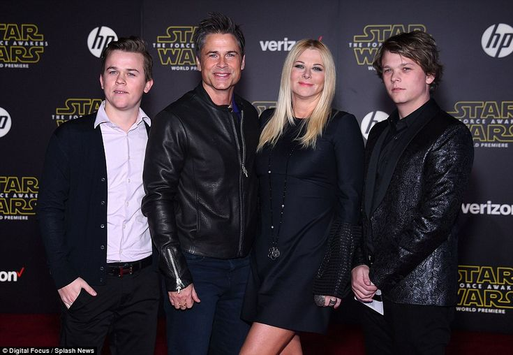 Family affair!Rob Lowe took wife Sheryl Berkoff and his two sons John and Matthew to the premiere
