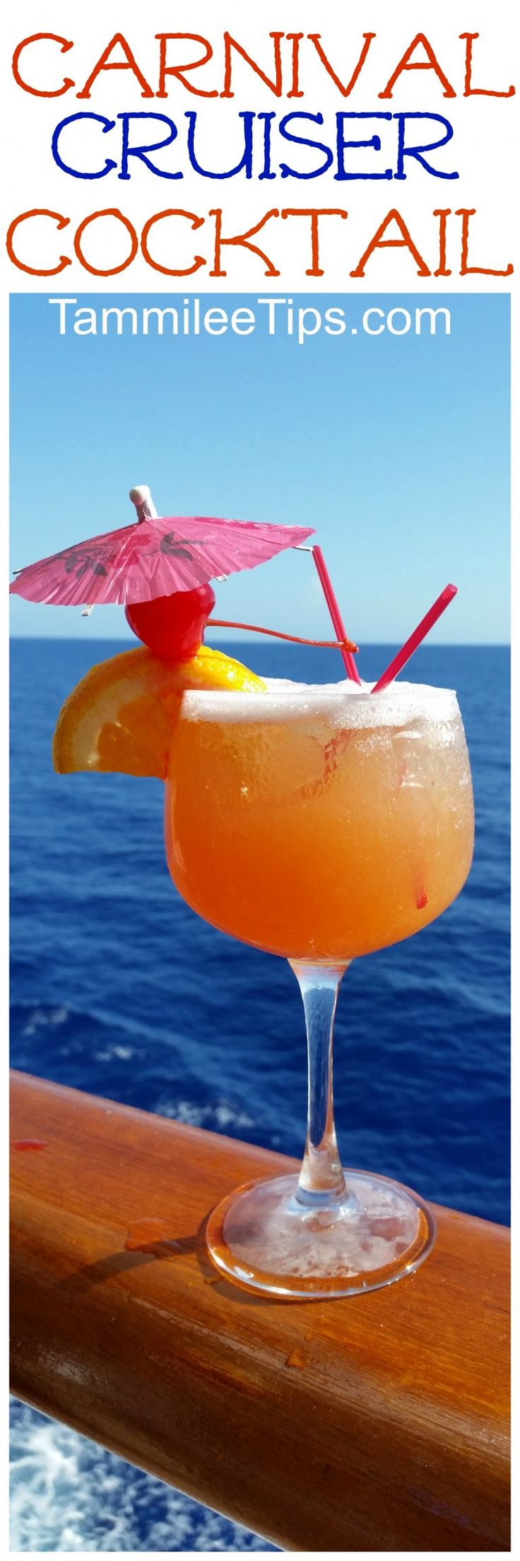 Enjoy your favorite Carnival Cruise Cocktail at home with this delicious Carnival Cruiser Cocktail Recipe! Bring home the tropics and share with your friends. This tropical cocktail is easy to make and tastes delicious!