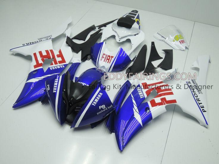2008-2015 FIAT Yamaha YZF-R6 Valentina Rossi MotoGP Team Motorcycle Fairing Kit www.eddyfairings.com