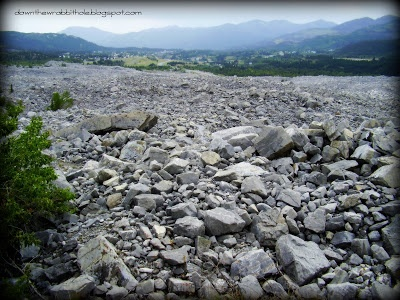 "Frank Slide in Alberta, Canada.  Find out more at ""Down the Wrabbit Hole - The Travel Bucket List"". Click the image for the blog post."