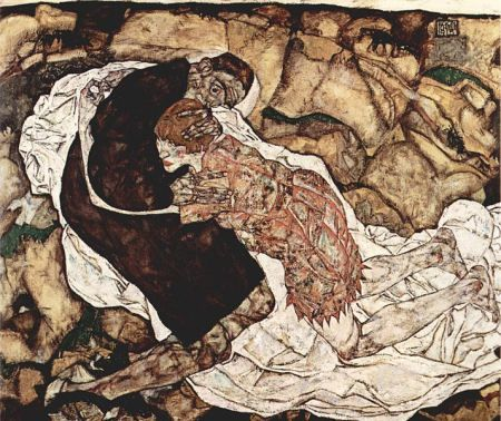 Death and the Maiden (1915-16) by Egon Schiele  Osterreichische Galerie Belvedere, Vienna