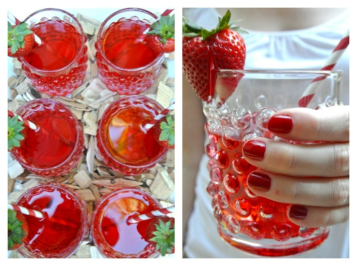 Chic Canadiana - Canada Day party, strawberry cocktail