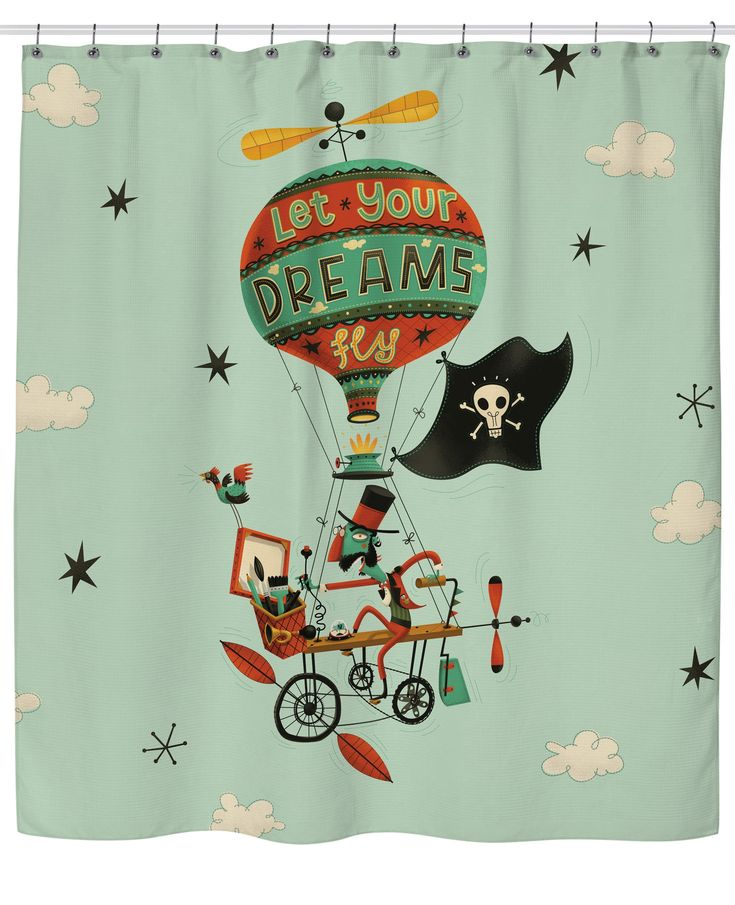 Let Your Dreams Fly Shower Curtain