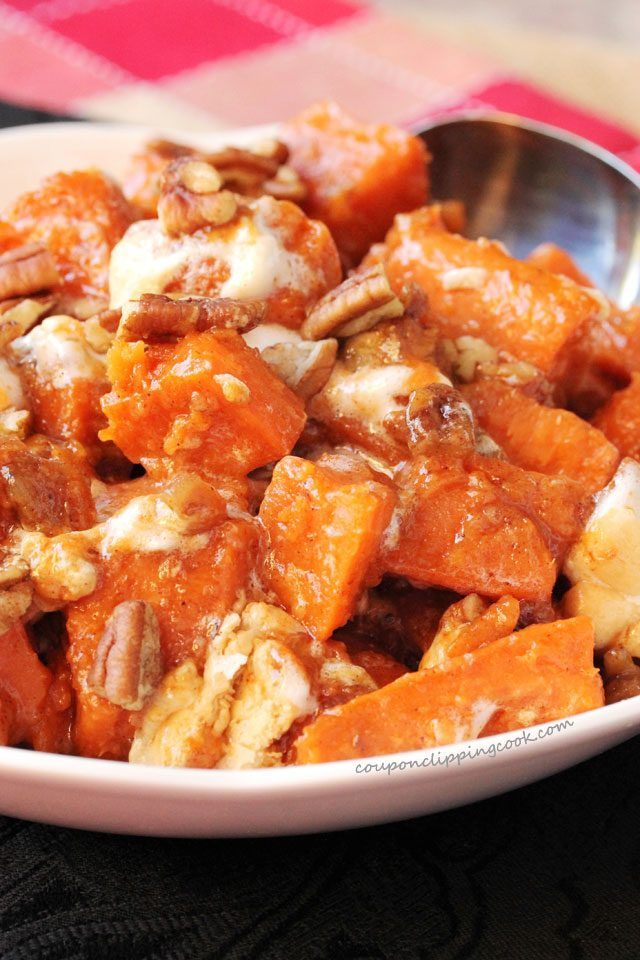 Candied Yams With Pecans And Marshmallows Recipe Baby Food