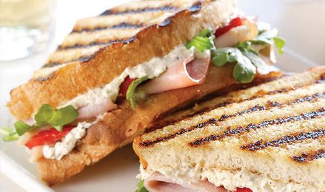 Savor this savory Boursin, Turkey & Ham panini while you sink into your favorite book with friends.