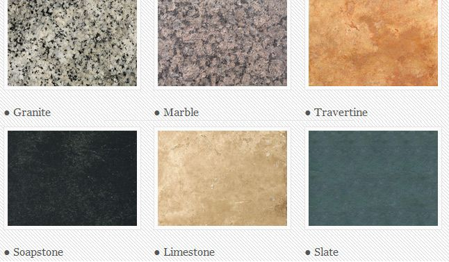 different types of marble for countertops use state