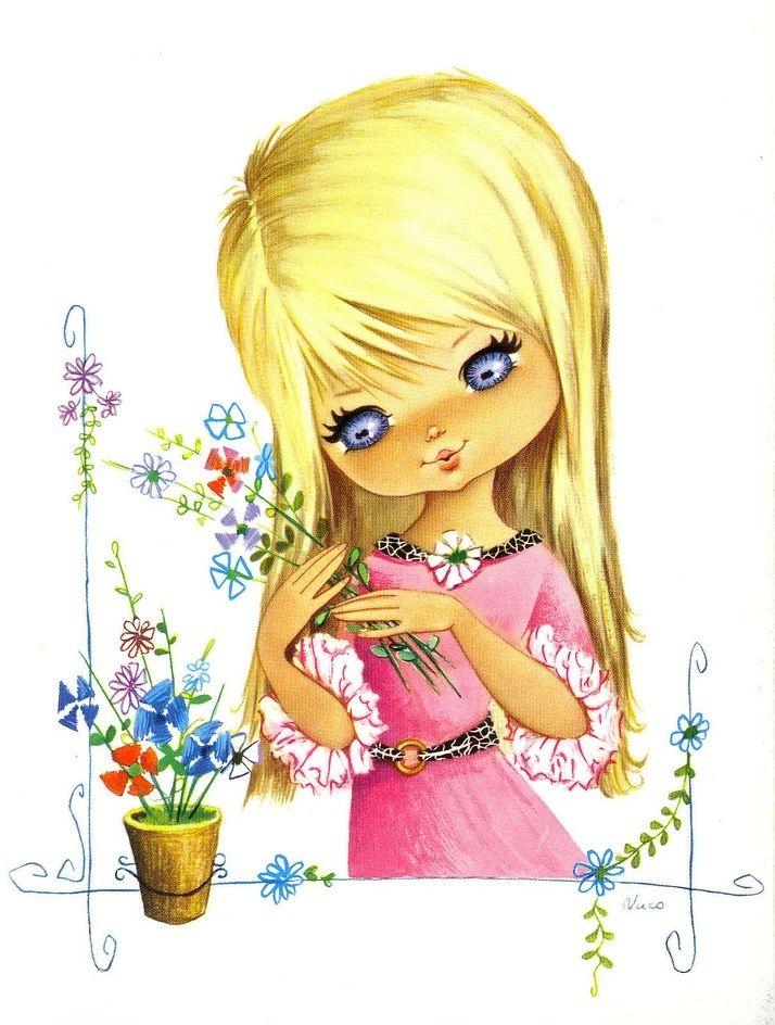 Красивую открытку для девочки