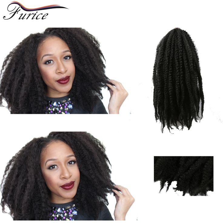 Aliexpress.com : Buy Sexy Afro Kinky Marley Twist Curly Crochet Hair 18in Freetress Braiding Hair Bundles Ombre Hair Extensions Short Afro Hairstyles from Reliable marley twist suppliers on furice hair Store