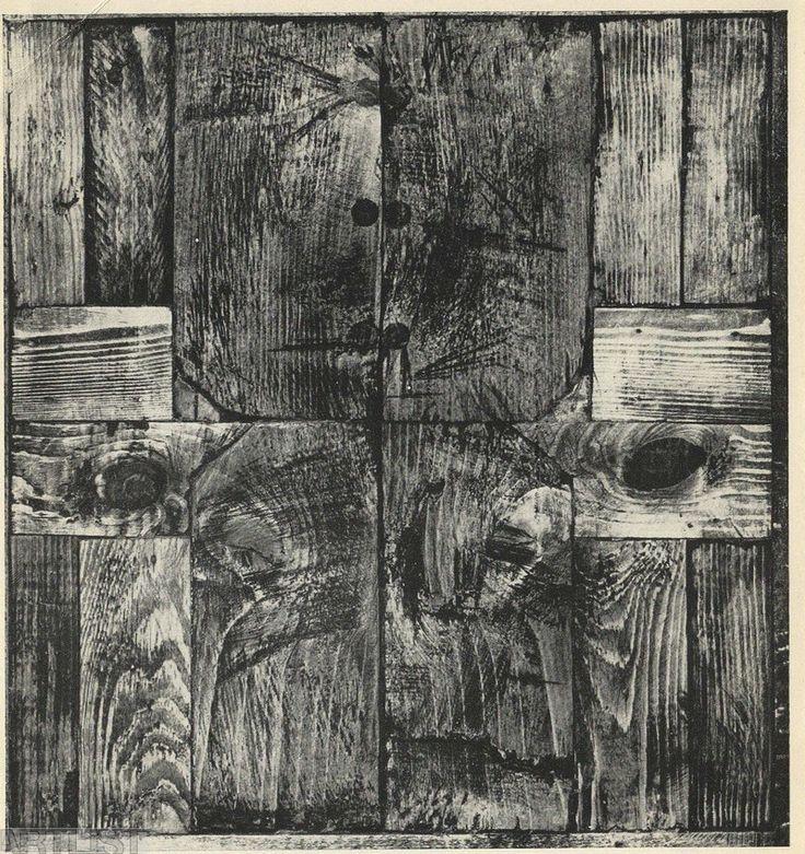 Zbyněk Sekal, Kdokoli, 1967, asambláž, dřevo, 31x32,5 cm