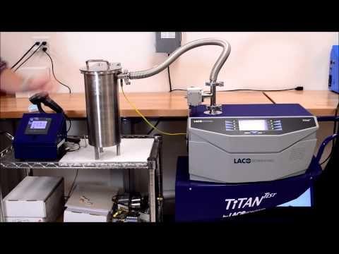 TitanTest Helium Leak Detector Leak Testing Fire Extinguishers