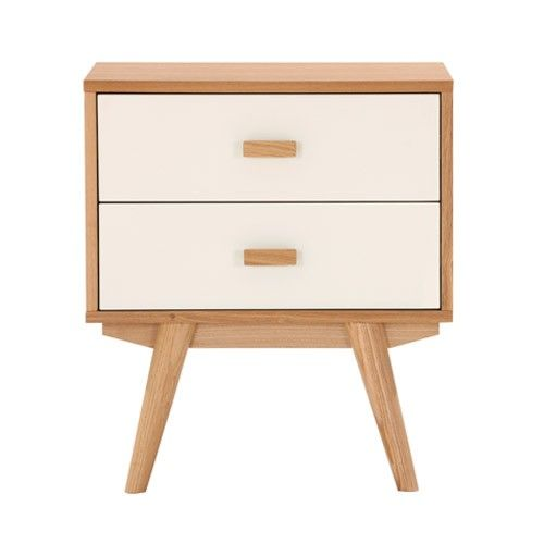 Sofia Bedside Table - 2 Drawers - Scandinavian Furniture