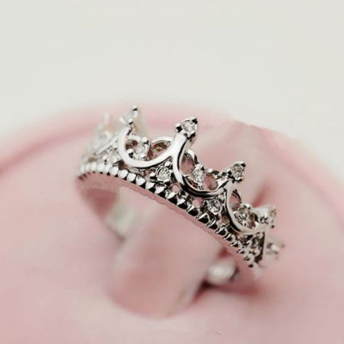 New Vintage Princess Crown Ring with an Heirloom-quality for those days when you want to embrace your feminine side. Finely Detailed with a Ring Band embellished with Rhinestones.