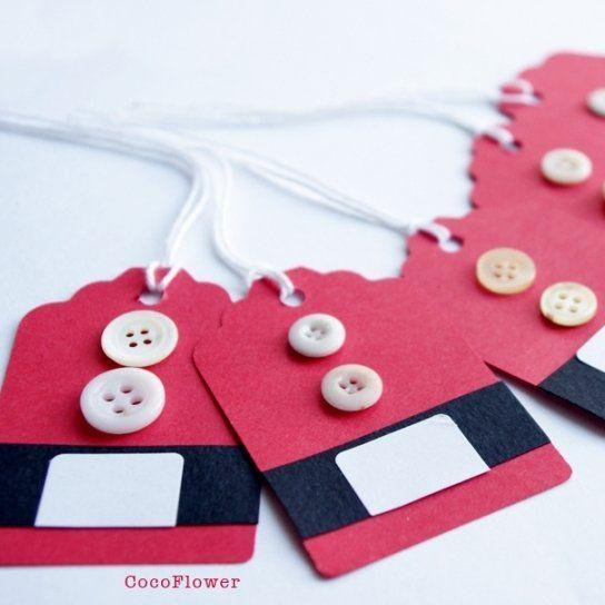 Etiquettes tenue du père Noël