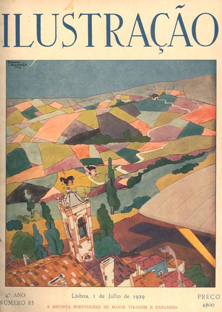 July 1929 cover of Illustracao, via Dias Que Voam.