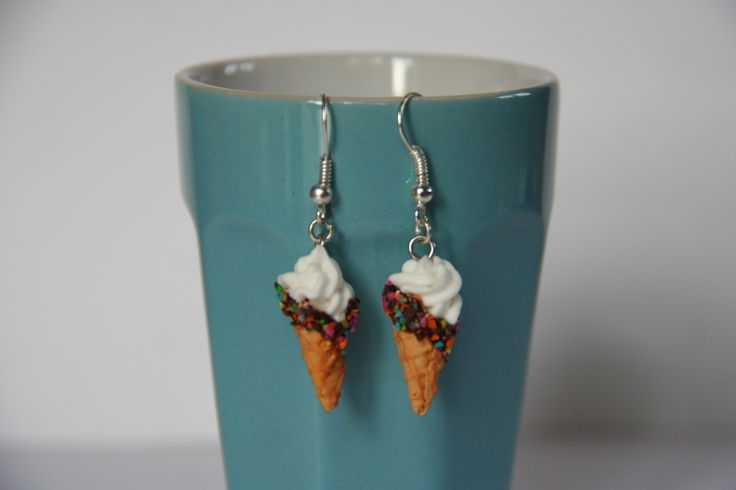 Boucles d'oreilles | Glaces | Fimo || Earrings | Icecream | Polymerclay
