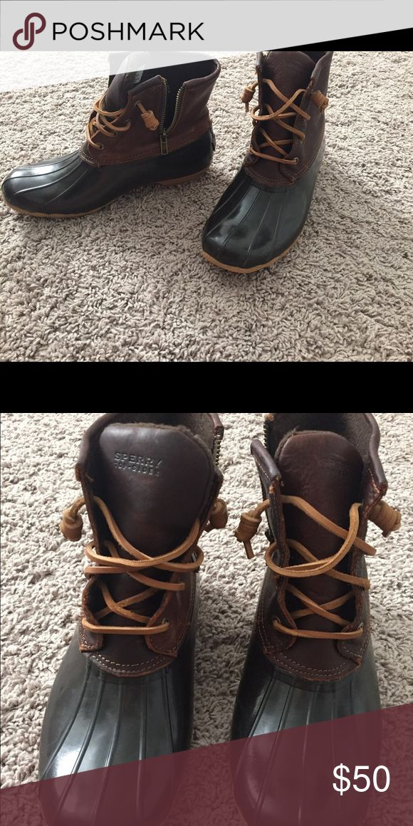 Sperry Bean boots perfect for rain or snow. only been worn twice Sperry Top-Sider Shoes Winter & Rain Boots