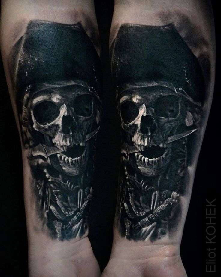 17 best ideas about pirate skull tattoos on pinterest for Skeleton pirate tattoo