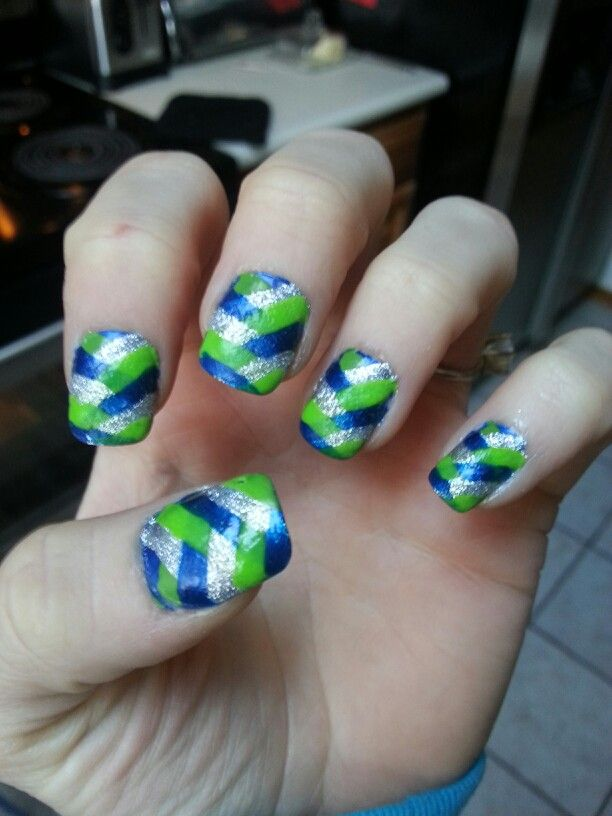 25 Best Ideas About Seahawks Nails On Pinterest
