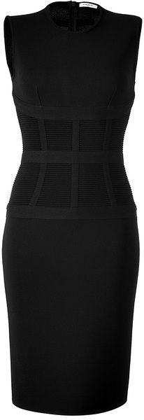 GIVENCHY Black Knitted Shift Dress - Lyst