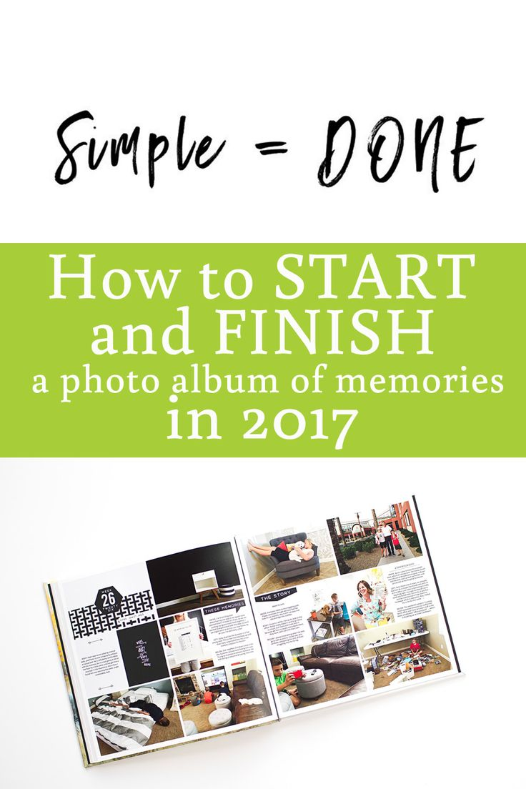 These tips are amazing!!  Ideas on how to keep things simple to FINISH albums this year.  Ideas on how to do it, what to include, how to print, etc.