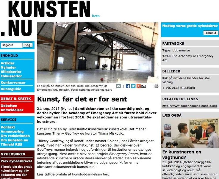 ACADEMY OF EMERGENCY ART   www.kunsten.nu/artikler/artikel.php?emergency+art+academy...