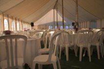 Interior of Party Tent Rental