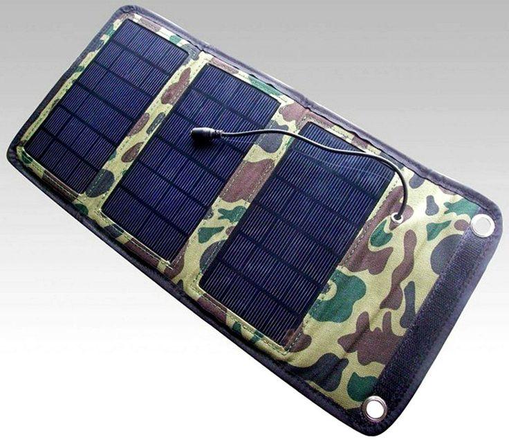 Nur hier erhältlich  Faltbarer Solar-Panel-Charger 5 Watt im Etui USB Anschluß !  Mein neuer Reisebegleiter !