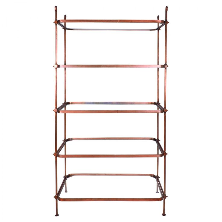 Croxley Antique Copper Shelving Unit - Bookcases & Shelving - Home Office…