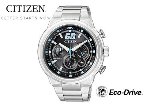 In order to stay ahead of the times, CITIZEN enters into a new chapter of watchmaking craftsmanship by fusing leading-edge technologies with the pursuit of ideal beauty. Citizen's progressive Eco-Drive technology harnesses the power of light – from any natural or artificial light source and converts it into energy. This means it recharges continuously, so...