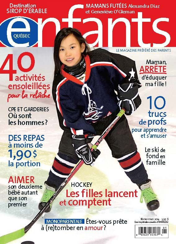 La vedette de notre couverture de février 2014 est Amélie, une joueuse émérite des Rapides de Champlain