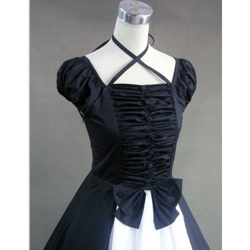 Black and White Old Wild West Pioneer Gothic Wedding Prom Dresses SKU-302008
