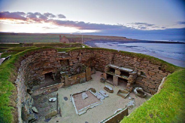 Village néolithique de Skara Brae, îles Orcades, Ecosse