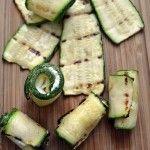 Rollitos o enrollados de calabacita con queso www.pizcadesabor.com