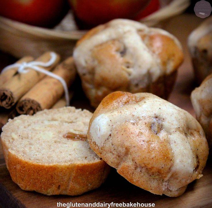Apple & Cinnamon Hot Cross Buns (gluten, dairy & nut free)