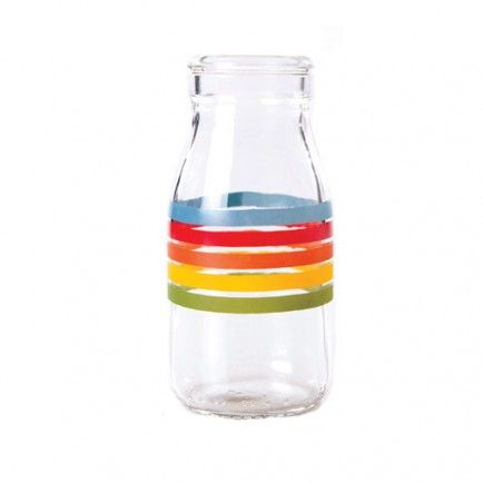 Bright and irresistible rainbow milk glass bottles will make you want to throw a party if you're not planning one!  Little Boo-Teek - Boutique Party Supplies Australia | Rainbow Kids Party Supplies