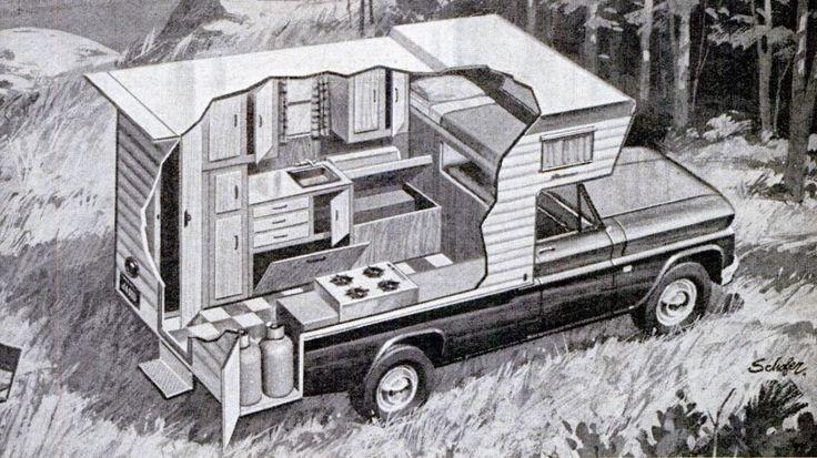 Truck Camper HQ: Pickup Truck Camper Cutaway, 1967