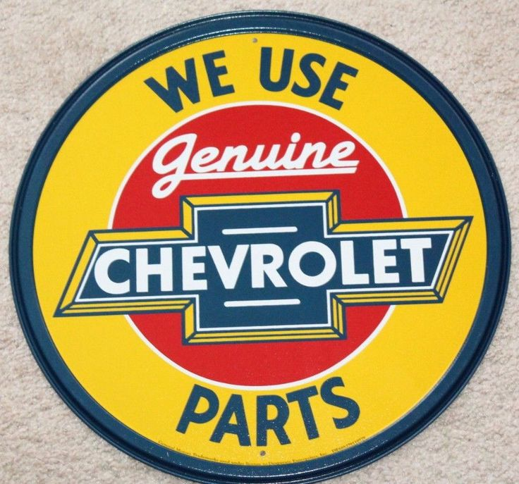 Genuine Chevrolet Parts Round Vintage Metal Sign Man Cave Garage Dad Gift USA #Chevrolet #VintageRetro