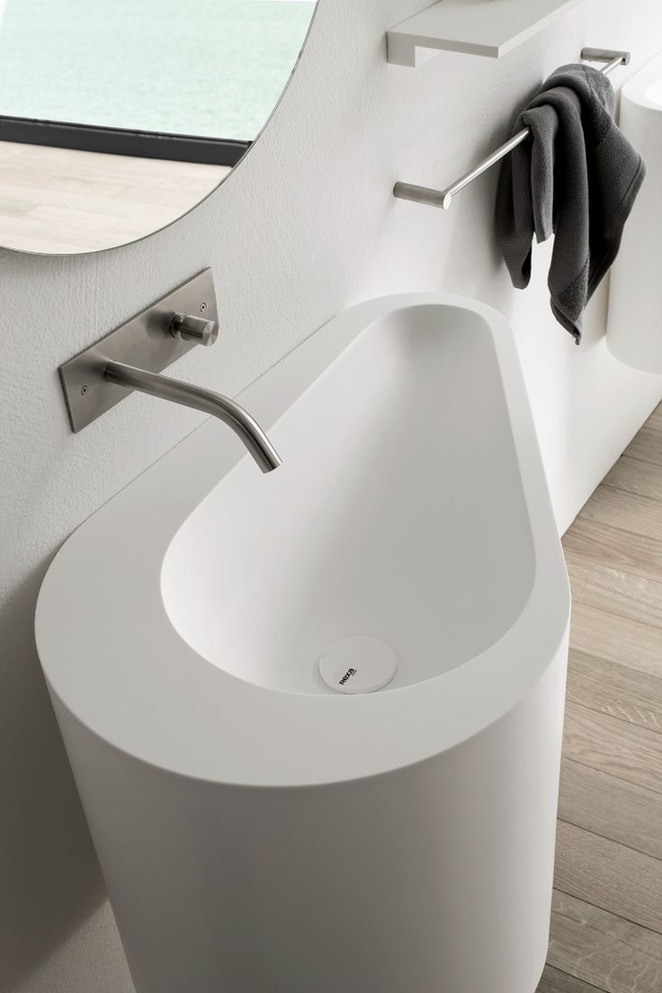 Wall Mounted Washbasin : Wall-mounted Korakril? washbasin BOMA Wall-mounted washbasin ...