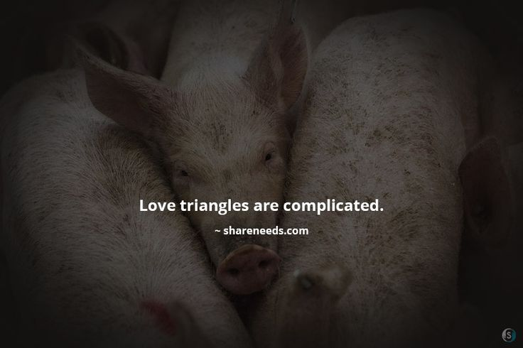 Love triangles are complicated.