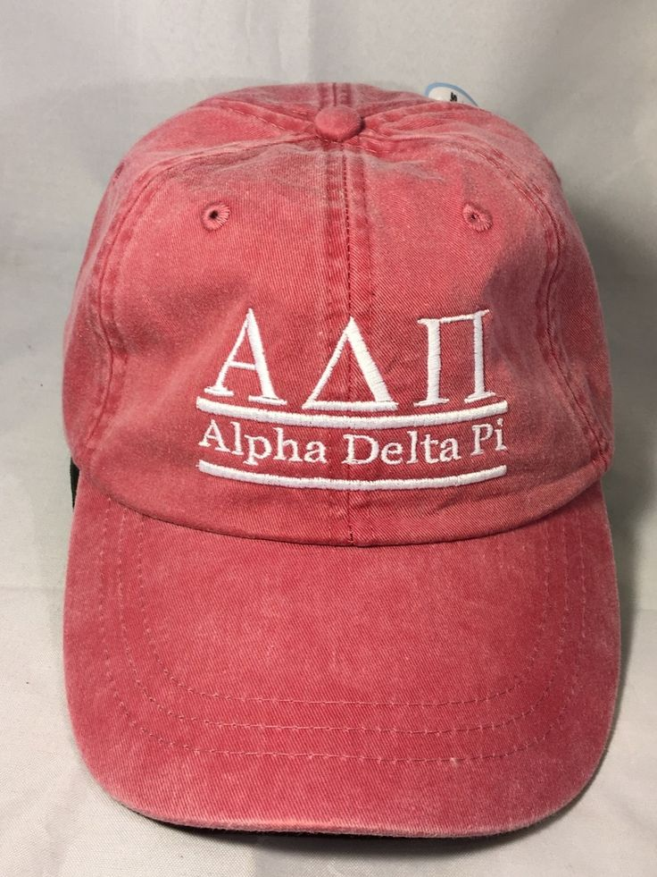 Alpha Delta Pi ADPI Sorority Hat- Nautical Red - Brothers and Sisters' Greek Store