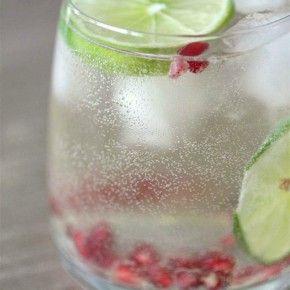 Pomegranate Lime White Wine Spritzer | Nutmeg Nanny