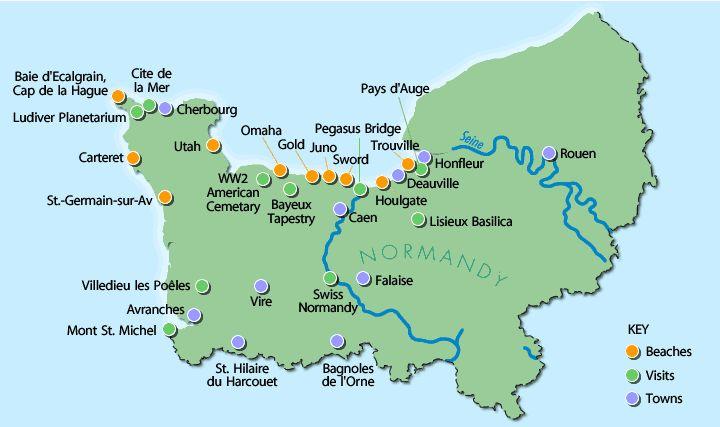 Normandy Beach France | Normandy Beach France Map