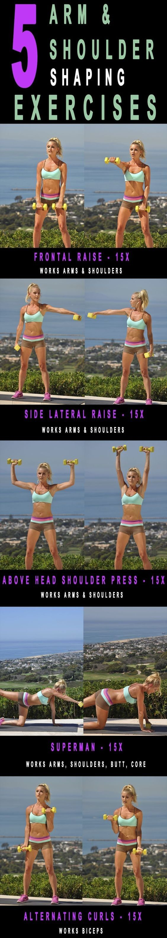 5 Arm workout.. Get that core nice and tight for summer with these fitness moves!   #Workout - #Womens #Health #Exercises #Arm  #Fitness