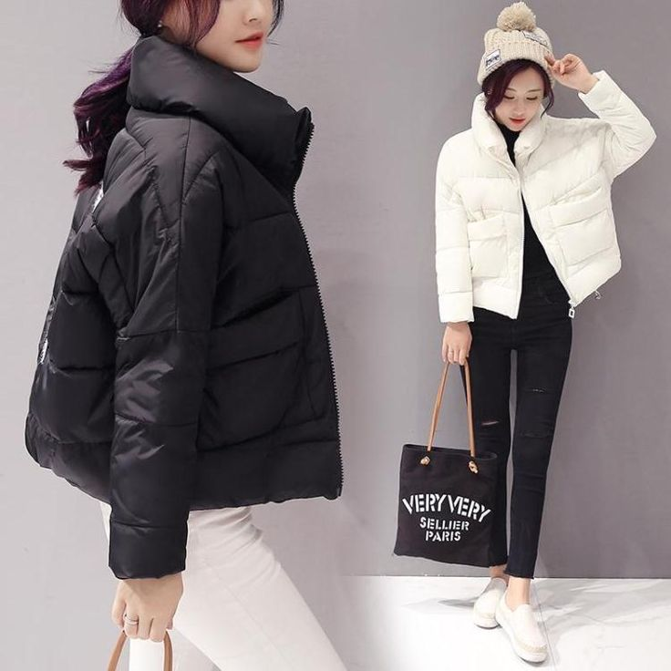 Winter Thicker Women Bread Clothes Short Loose Stand Coll Down Cotton Jacket