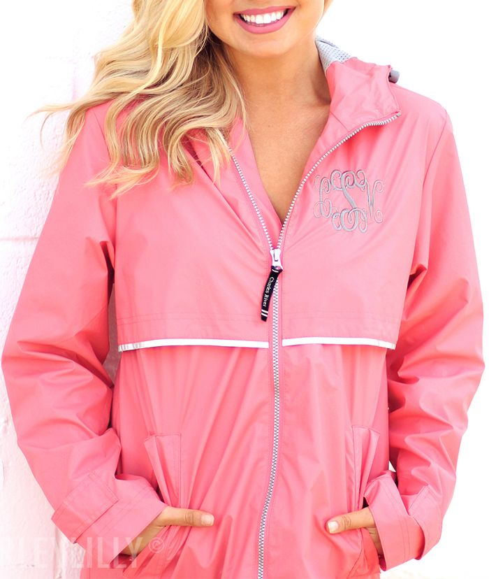 Stay warm and dry with a Monogrammed New England Rain Jacket.